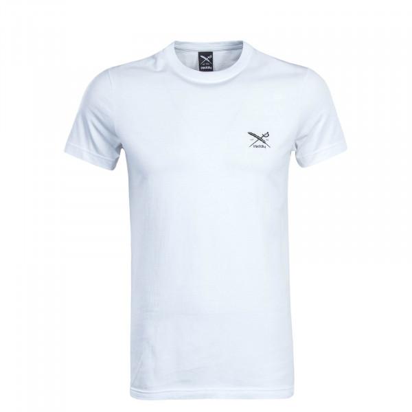 Herren T-Shirt - Chestflag - White