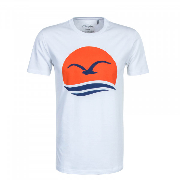 Herren T-Shirt Big Mocean White Blue Orange