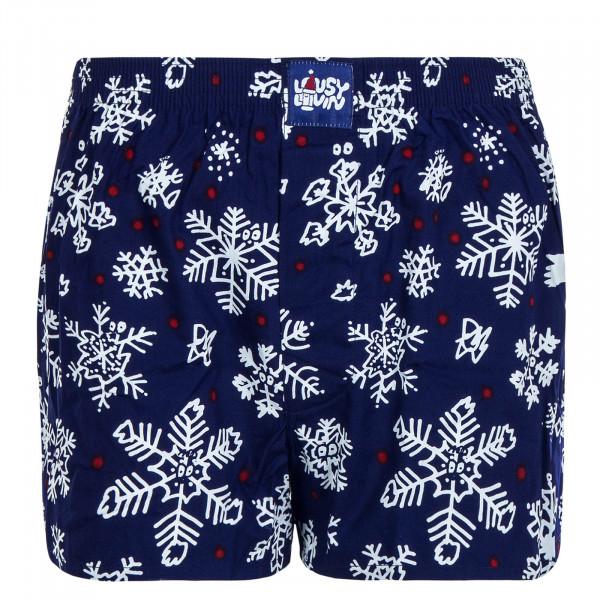 Herren Unterwäsche - Boxershorts Snow Flakes - Navy