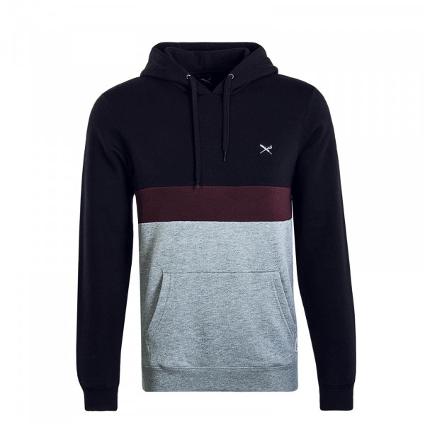Herren Hoody Court Black Grey
