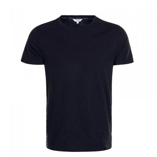Herren T-Shirt 0464 Relaxed Crew Black White
