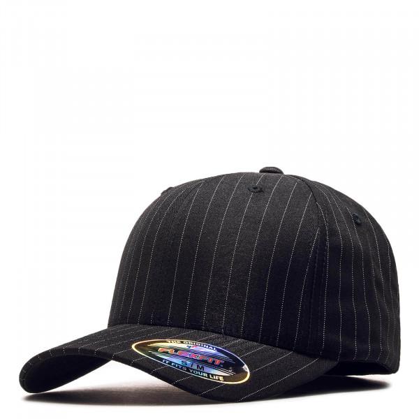 Cap Pin Stripe 6195 Black White