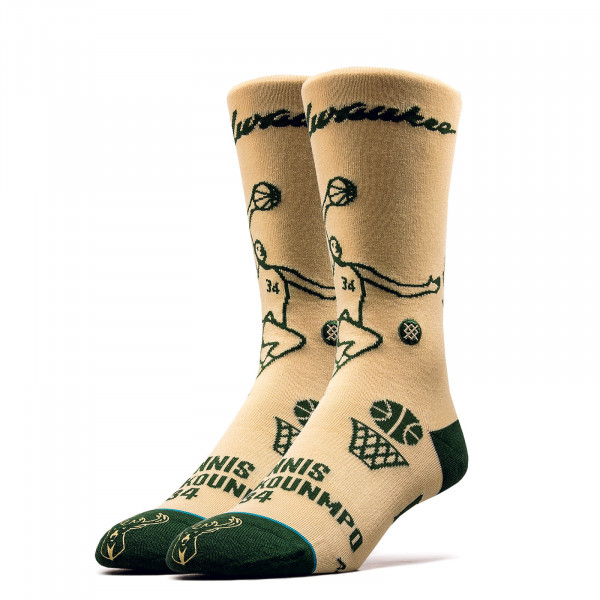 Socken NBA Giannis Stencil Cream Grey