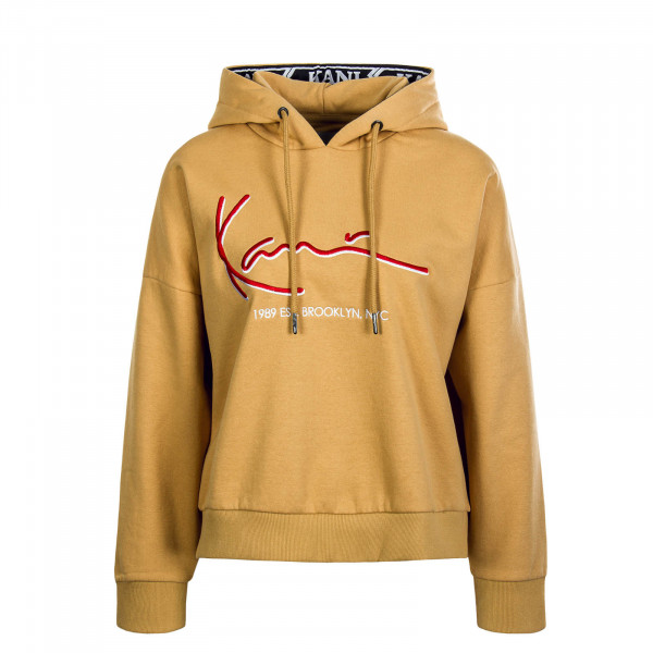 Damen Hoody Signa Tape Block Camel Red
