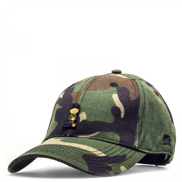 C&S Cap Merch Garfield Curve Olive Camo