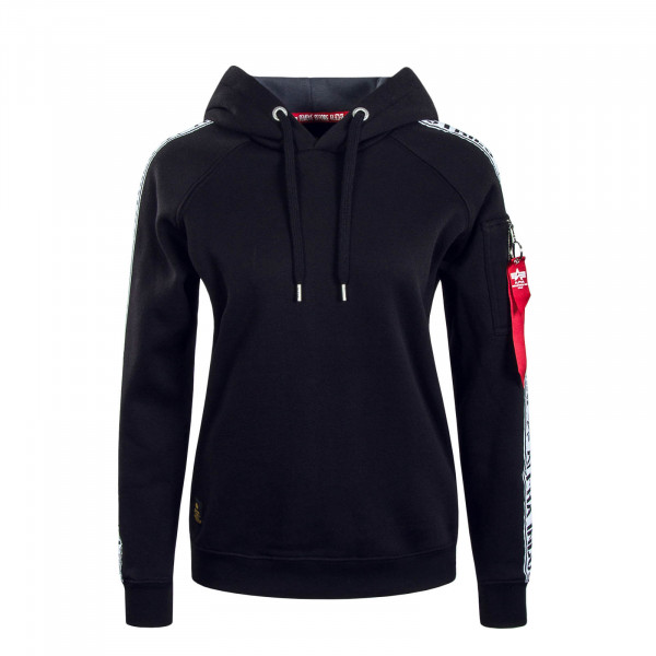 Damen Hoody AI Tape Black White
