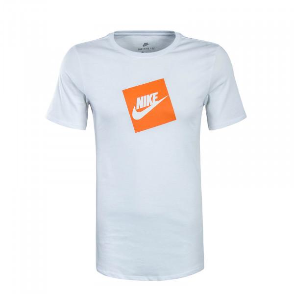 Herren T-Shirt NSW SS Futura White Orange