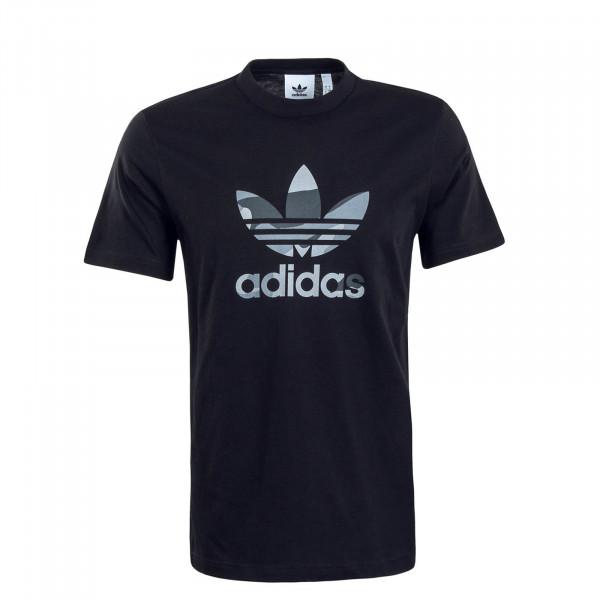 Herren T-Shirt Infill Camouflage Black