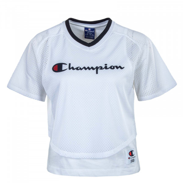 Damen T-Shirt - Neck 102903 - White / Black