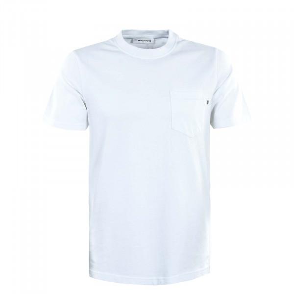 Herren T-Shirt - Bobby Pocket - White