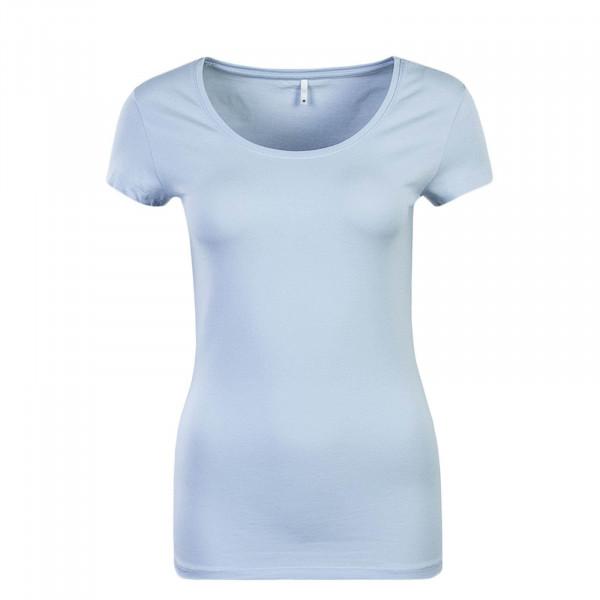 Damen T-Shirt Live Love Light Blue