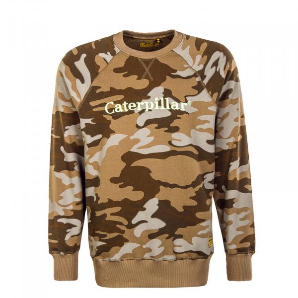 Herren Sweatshirt - CAT Roundneck - Camouflage / Brown