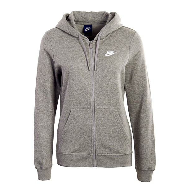 Nike Wmn Sweatjkt Hoodie FZ FLC Lt Grey