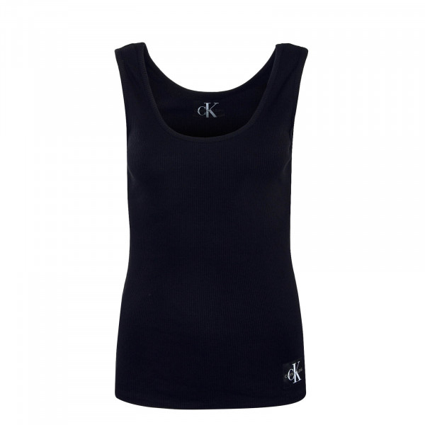 Tank Top Damen Rib Black