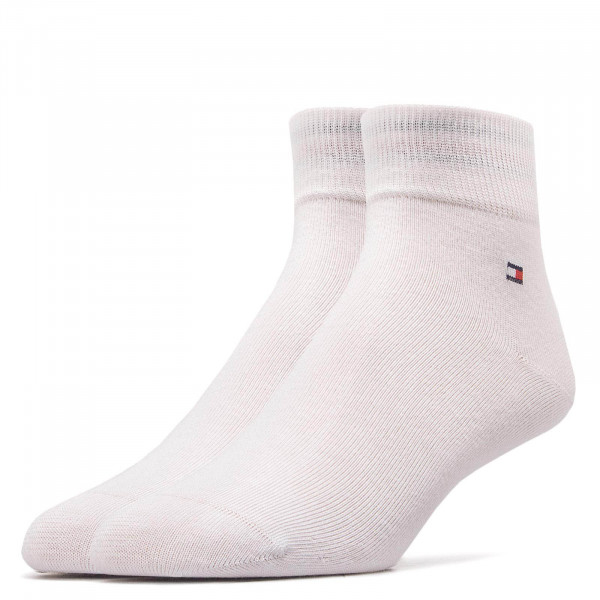 Tommy Socks 2 Pk  Quarter White