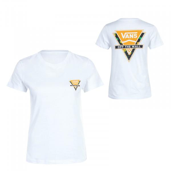 Damen T-Shirt Polka Ditsy White