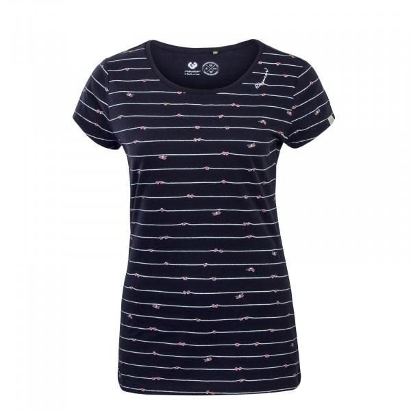 Damen T-Shirt  Mint C Organic Navy