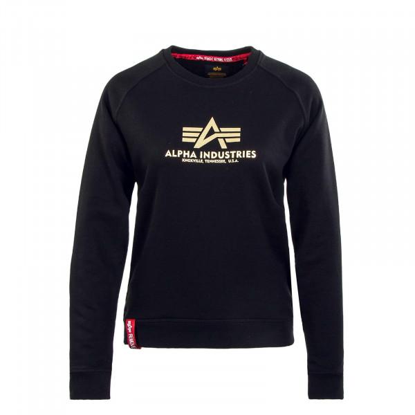 Damen Sweatshirt - New BasicFoil Print - Black