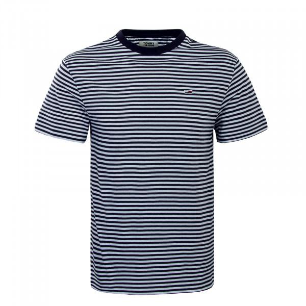 Herren T-Shirt  5515 Black White Stripe