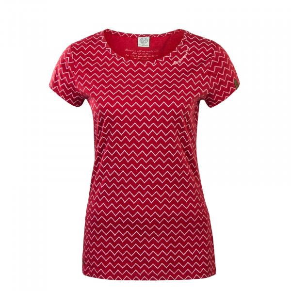 T-Shirt Mint Zig Zag Red