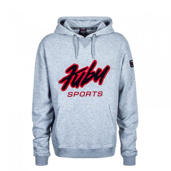 Herren Hoody Sports Grey Black Red
