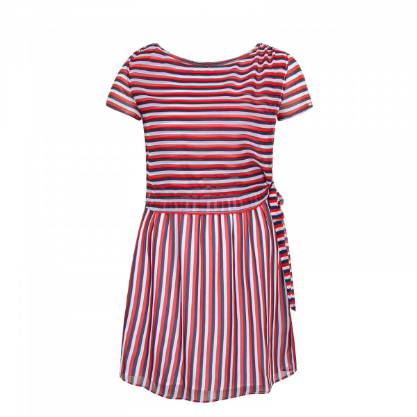 Kleid Stripe Red Navy