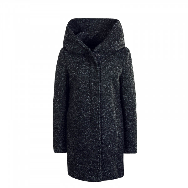 Damen Mantel Wool Sedona Boucle Black