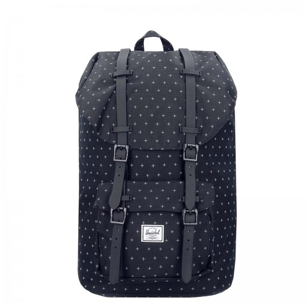 Herschel Backpack Lit America Black Grid - Rucksack