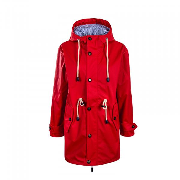 Bayside Wmn Raincoat Norderney Red