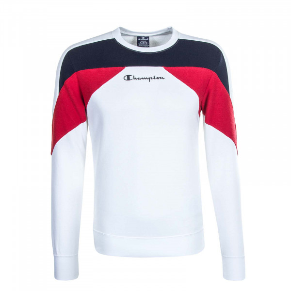 Herren Sweat 214816 White Navy Red