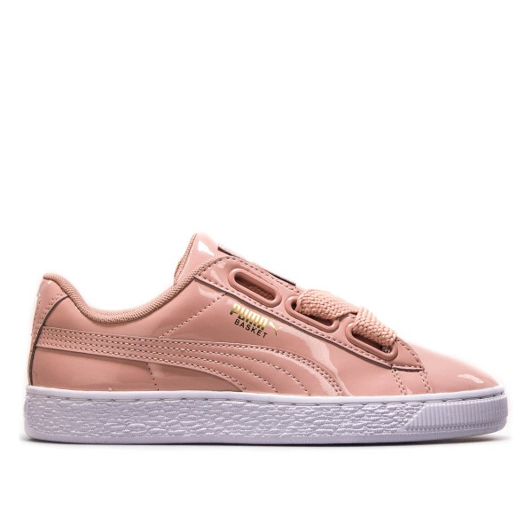 Puma Wmn Basket Heart Patent Peach White