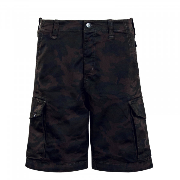 Herren Short New Cargo Black Camouflage
