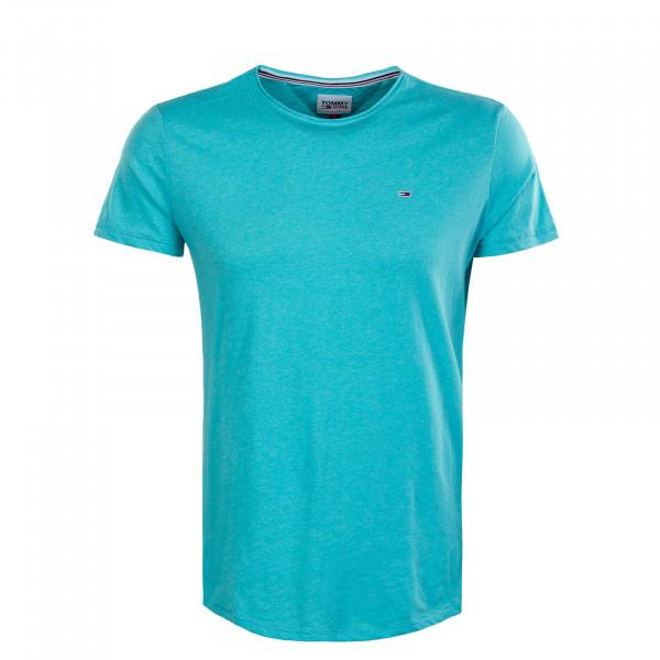 Herren T-Shirt - Slim Jaspe Tee - Chlorine Blue