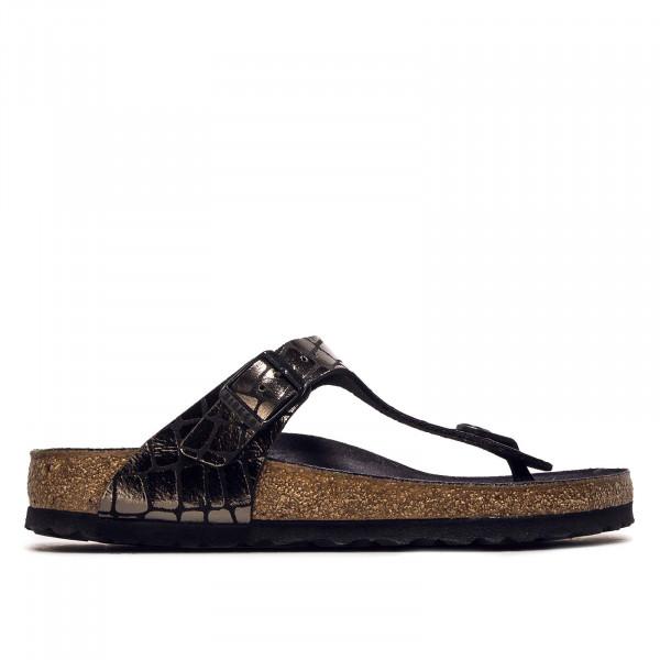 Damen Sandalette Gizeh Gator Gleam Black - normale Weite