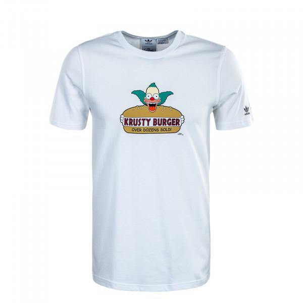Herren T-Shirt - Simpsons Krusty Burger - White