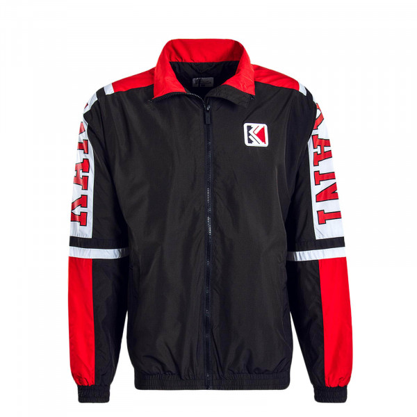 Herren Jacke College Track Black Red White