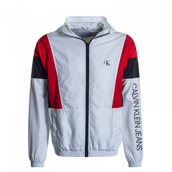Herrenjacke Color Block White Black Red