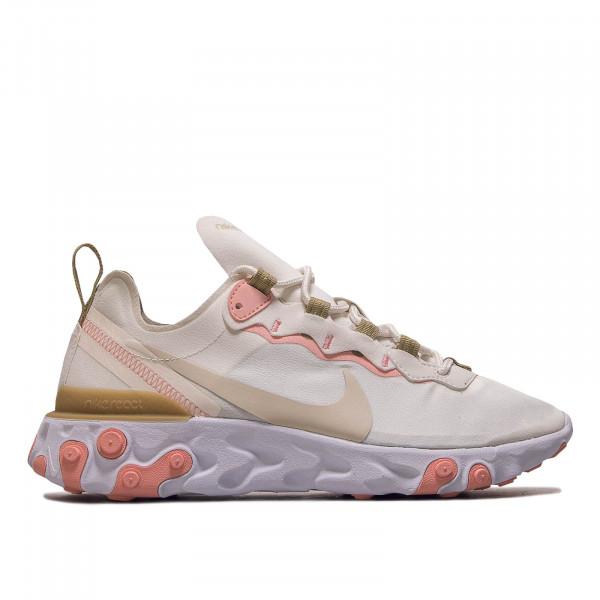 Damen Sneaker React Element 55 Beige Pink