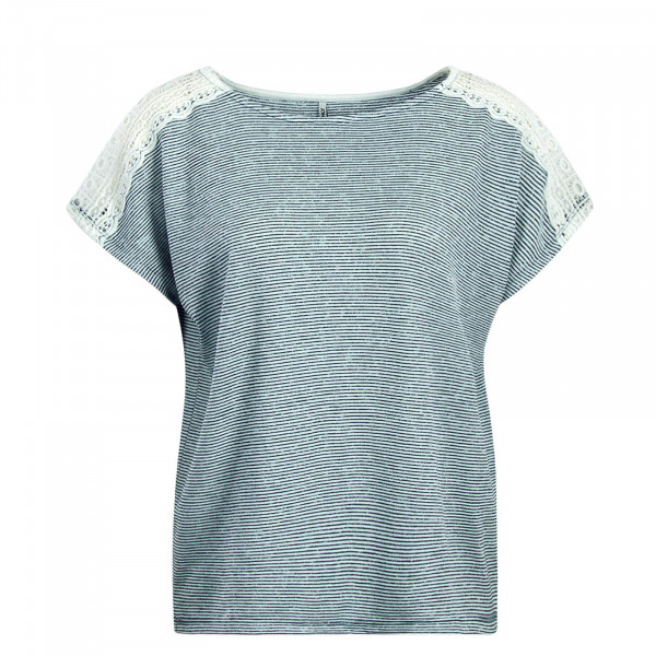 Damen T-Shirt Mira Stripe White Navy