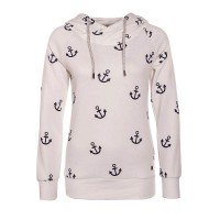 Only Hoody Lisa Anchor Beige Blue