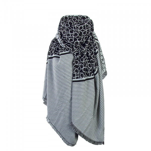 CK Scarf Blanket Black White