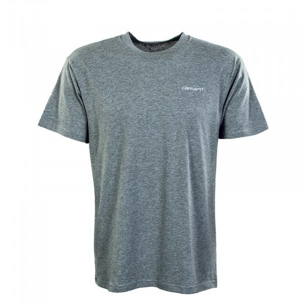 Herren T-Shirt - Script Embroidery - Grey / White