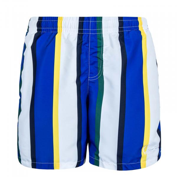 Herren Boardshort Signature Stripe White