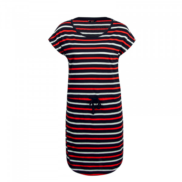 Dress May Navy Red White Stripe
