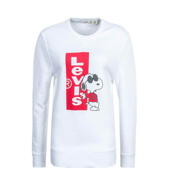 Levis Sweat Graphic Snoopy White Red