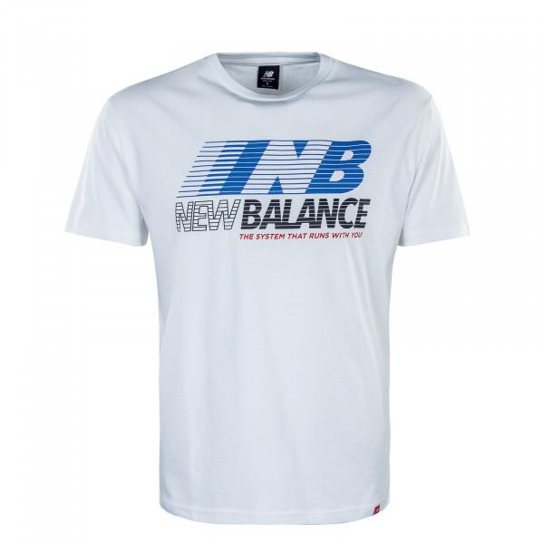 Herren T-Shirt MT03513 Essentials Speed AC White