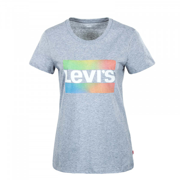 Damen T-Shirt - Perfect Sportswear Logo - Grey