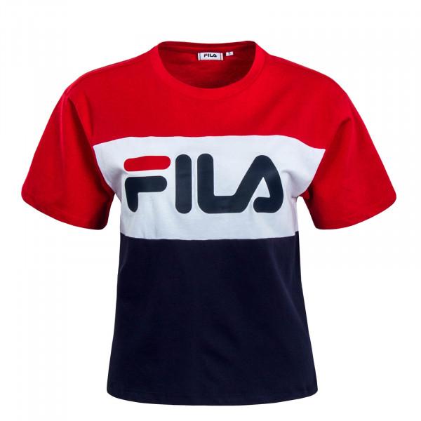 Damen T-Shirt Allison Red White Navy
