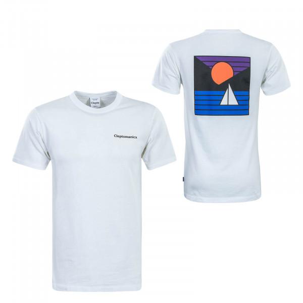 Herren T-Shirt Voyage White