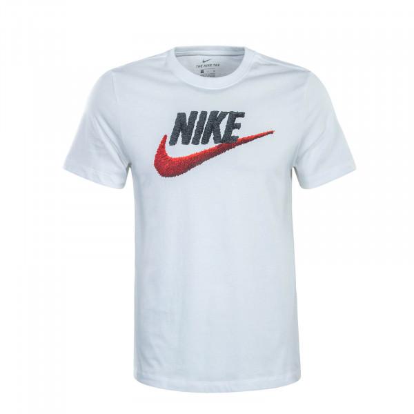 Herren T-Shirt Brand Mark White Black Red